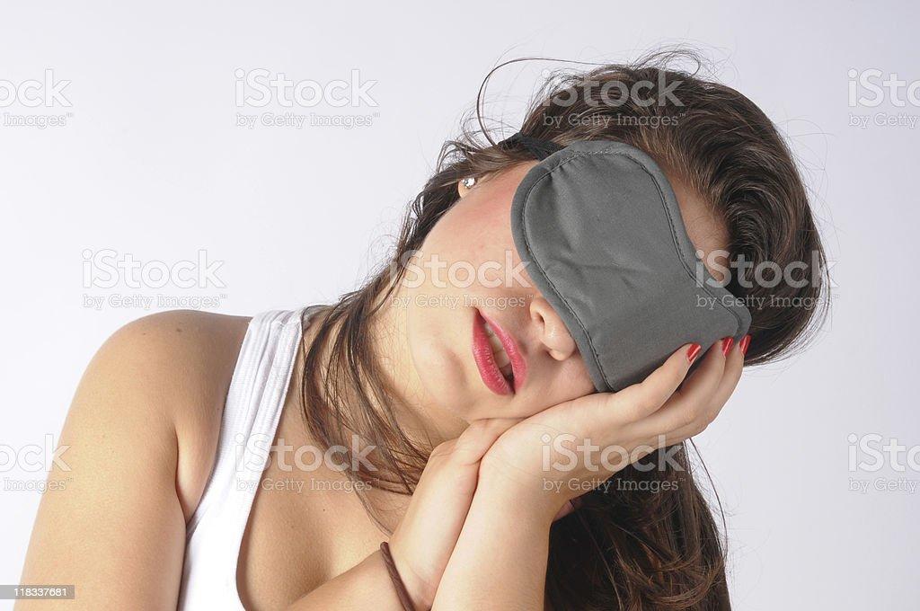 young girl is sleeping royalty-free stock photo