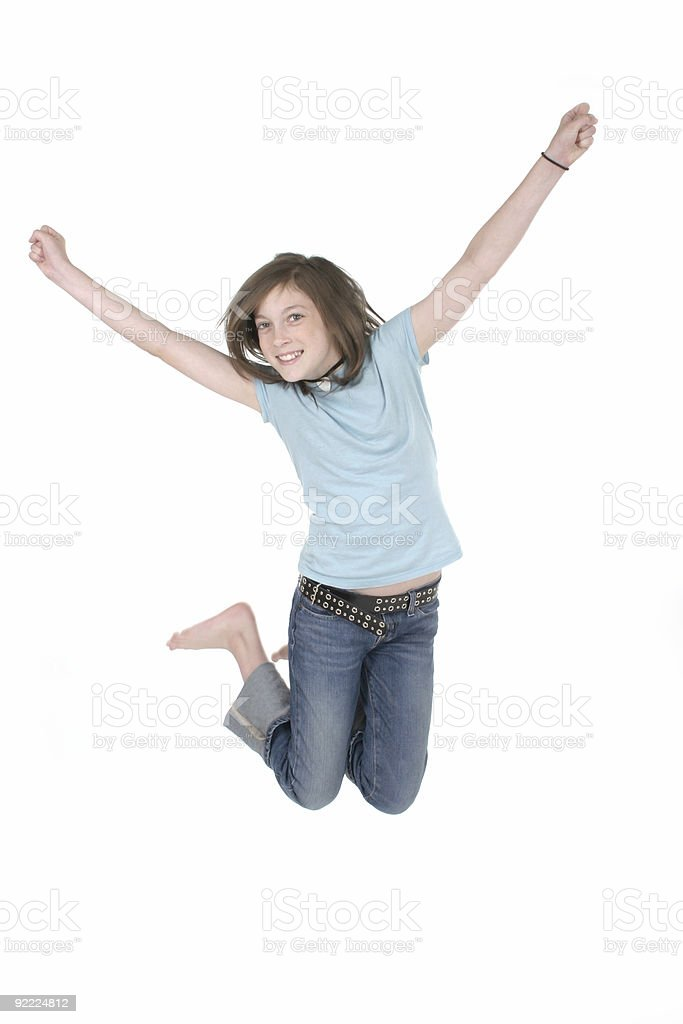 Young Girl Jumping 3 royalty-free stock photo
