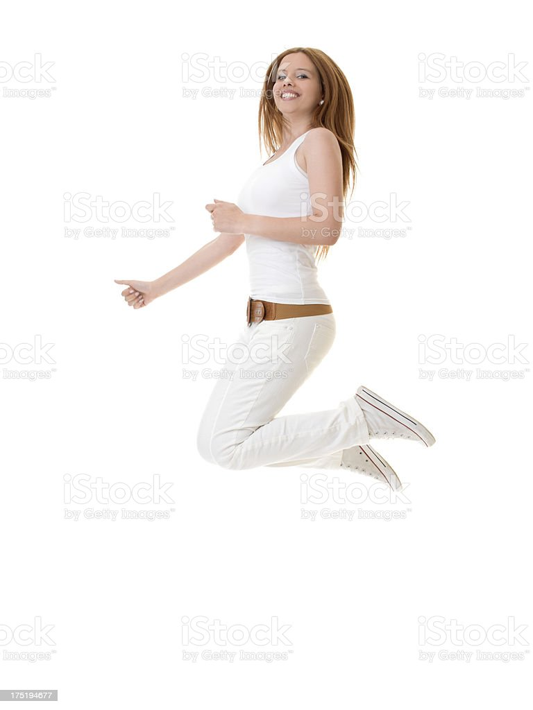 Young girl jumping royalty-free stock photo