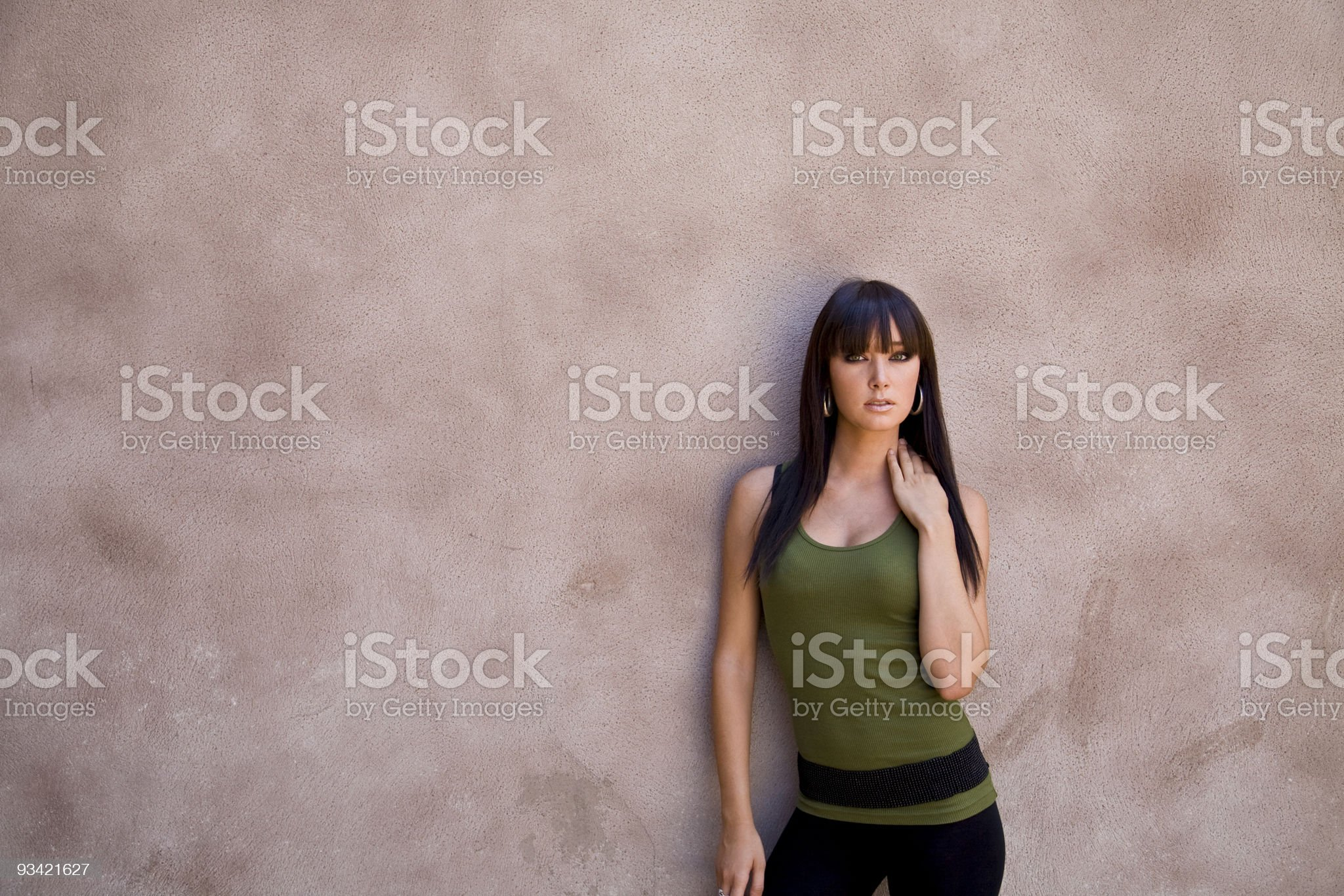 young girl leaning royalty-free stock photo