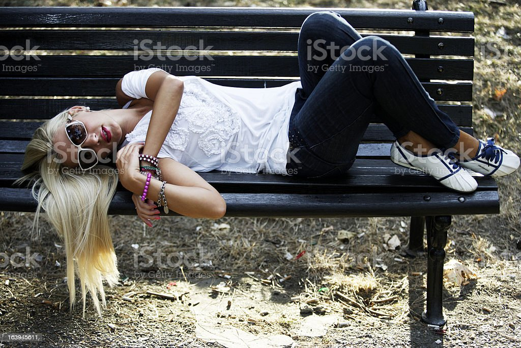 Young girl - modern lifestyle royalty-free stock photo