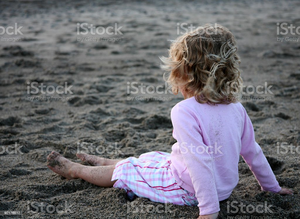 Young Girl on Beach royalty-free stock photo