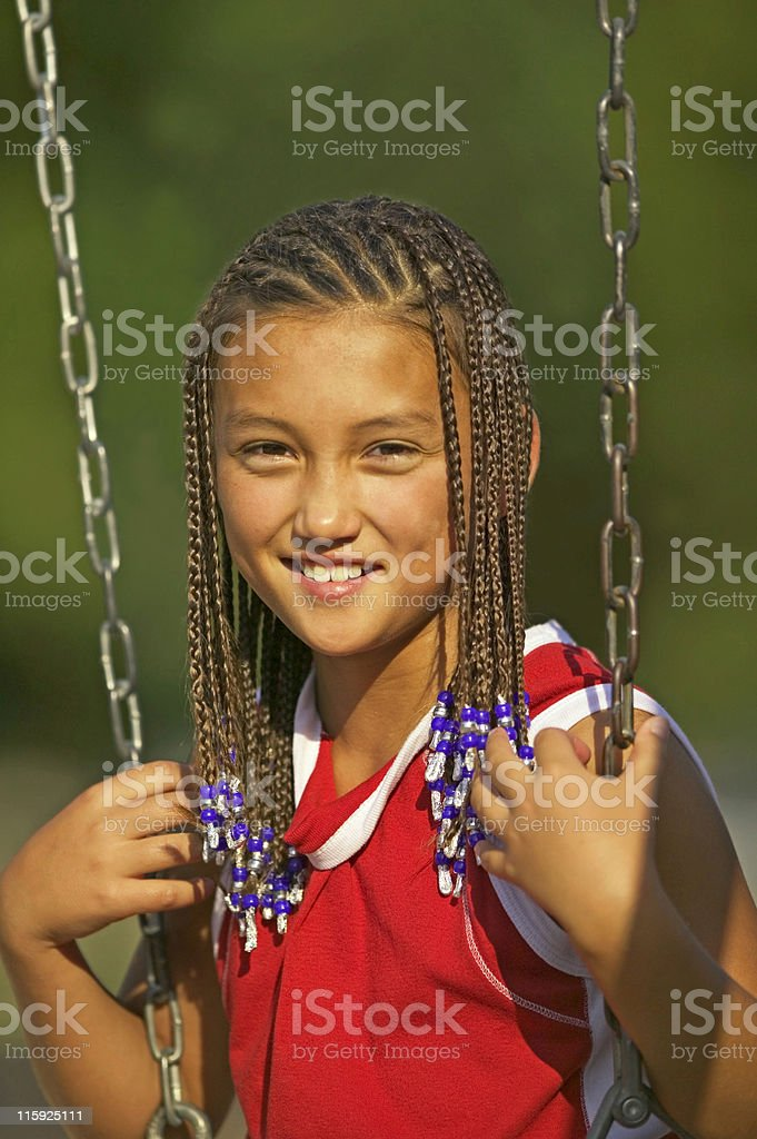 Young Girl on Swing royalty-free stock photo