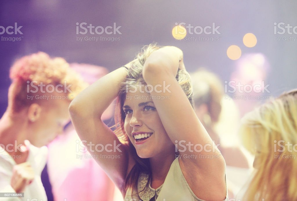 Enraptured by the music stock photo