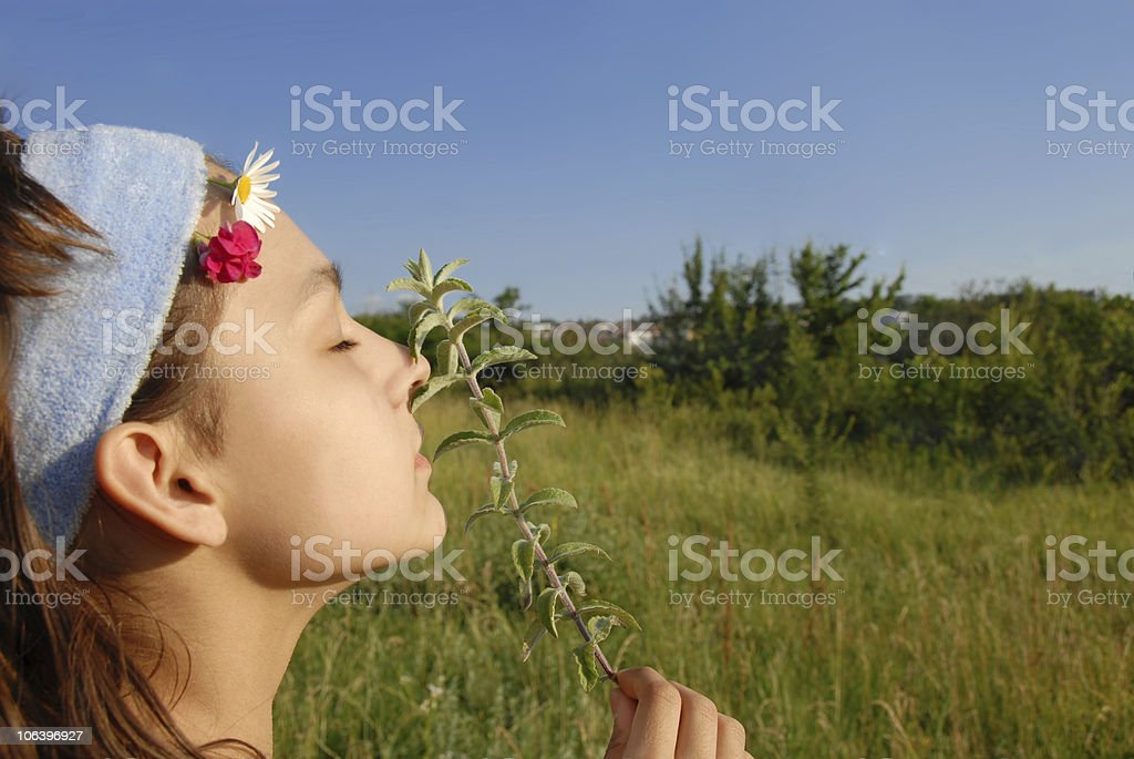 Young girl portrait outdoor royalty-free stock photo