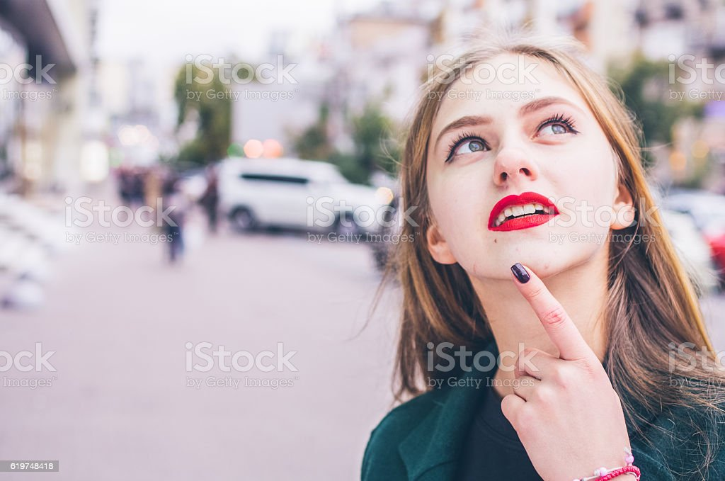 Young girl portrait stock photo