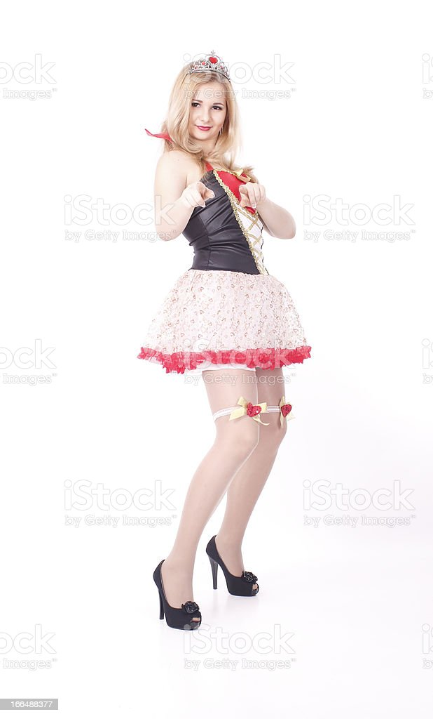 Young girl posing and smiling stock photo