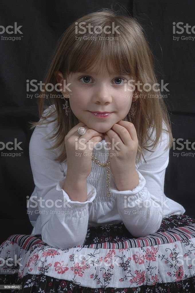 Young Girl Posing royalty-free stock photo
