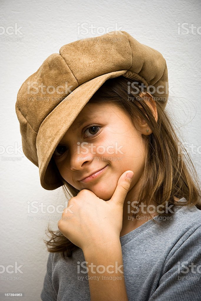 Young girl posing with attitude royalty-free stock photo