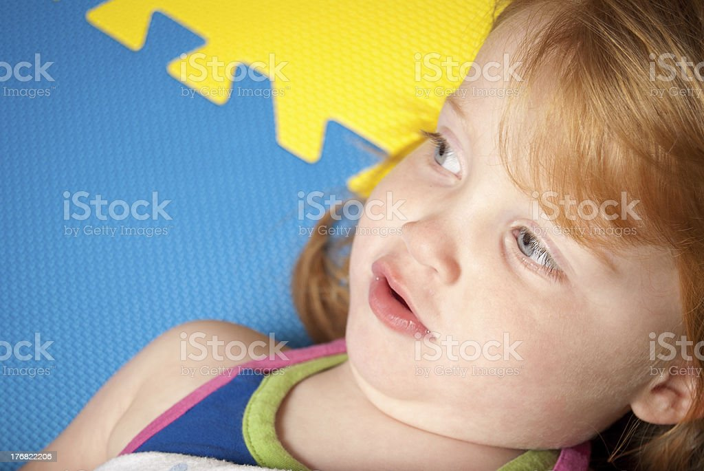 Young Girl Resting royalty-free stock photo