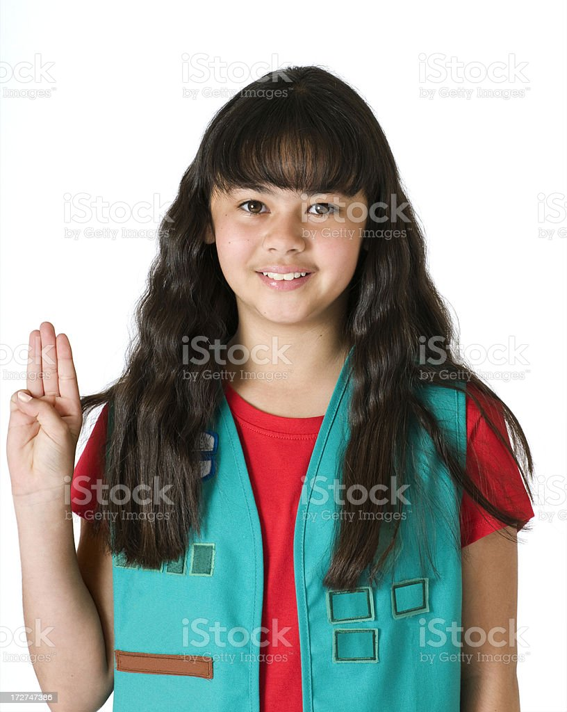 Young Girl Scout stock photo