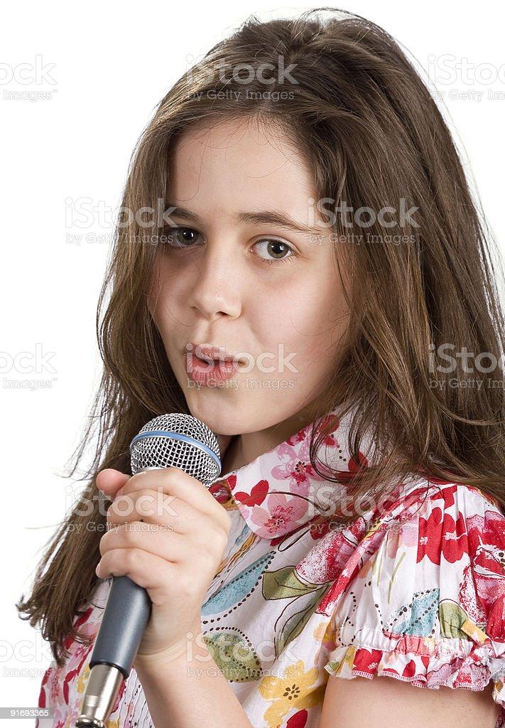 Молодая девушка Петь Стоковые фото Стоковая фотография