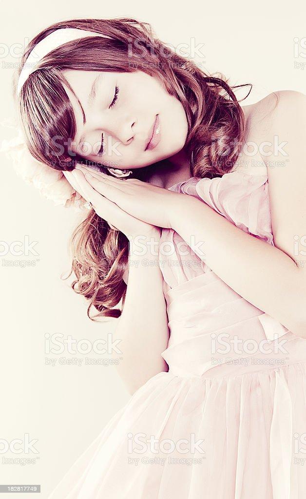Young Girl Sleeping stock photo