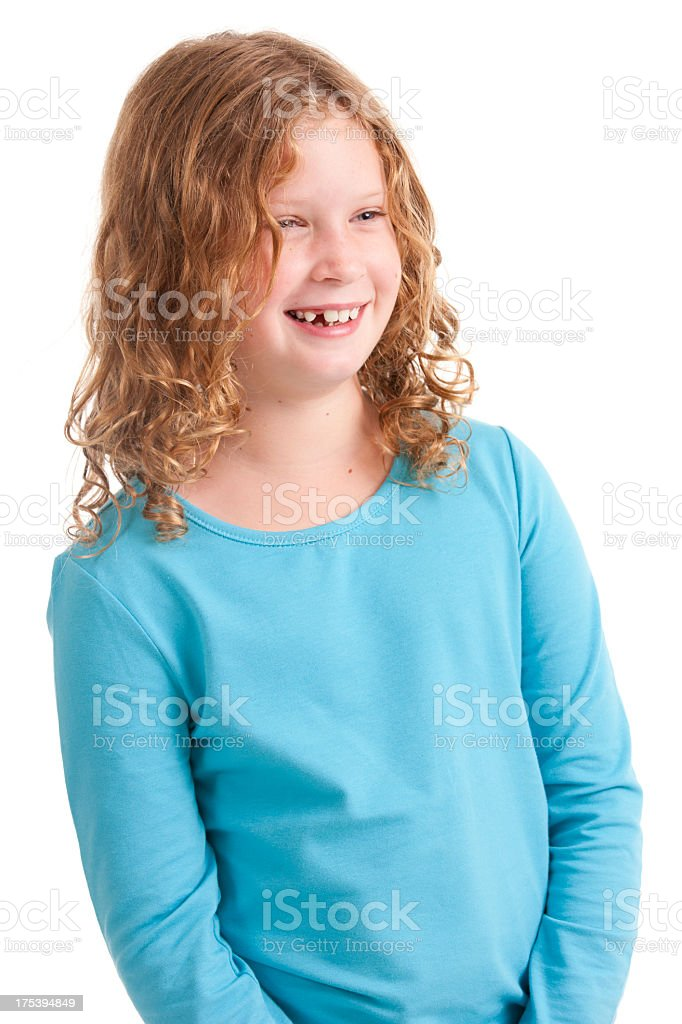 Young Girl Smiling stock photo