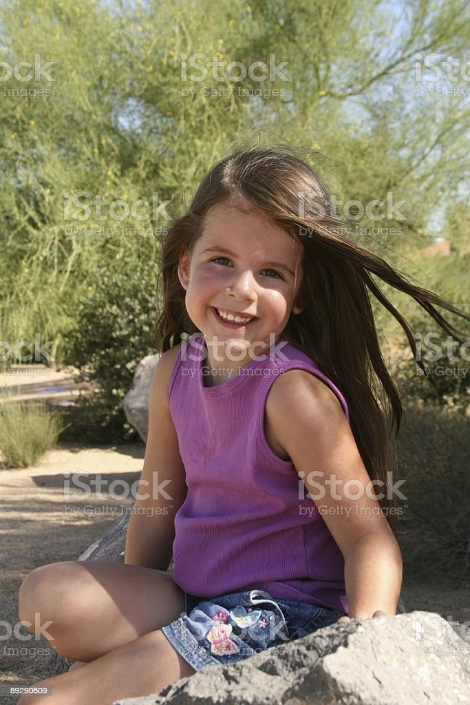 Młoda dziewczyna uśmiech zbiór zdjęć royalty-free