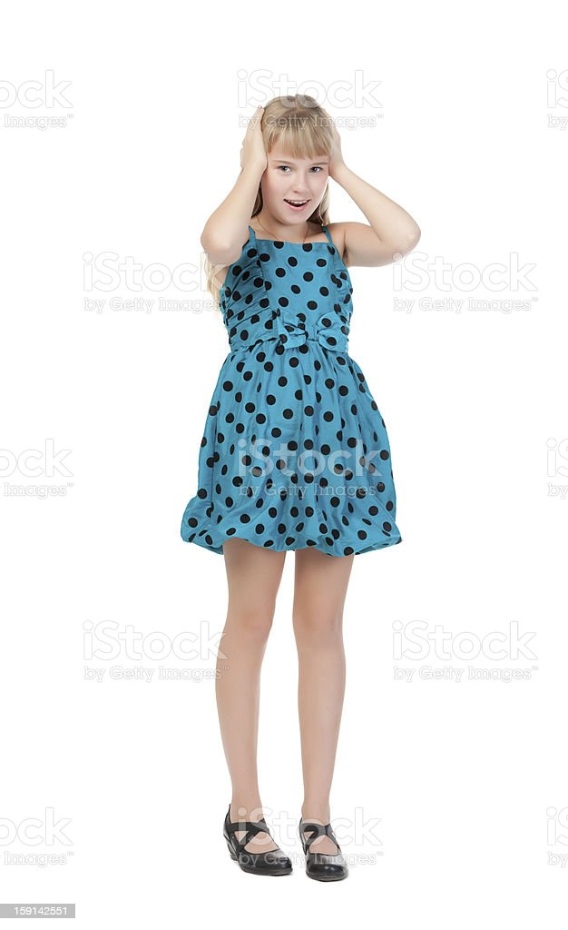 Young Girl Standing In Studio royalty-free stock photo