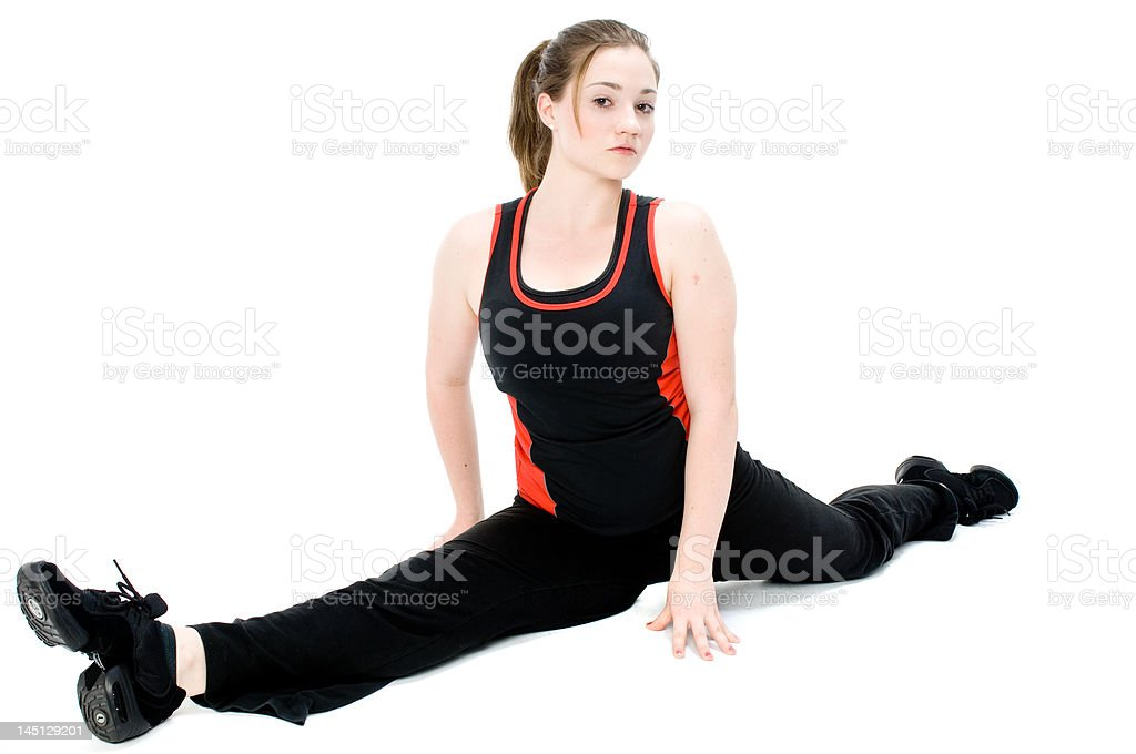 Young Girl Stretching royalty-free stock photo