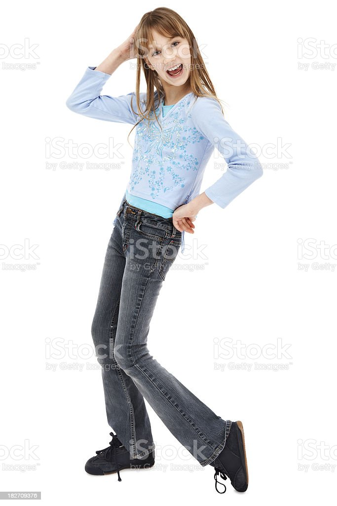 Young Girl Striking a Pose royalty-free stock photo