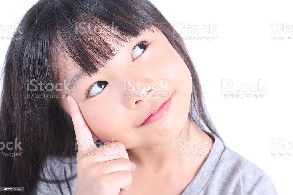 Junges Mädchen Denken Lizenzfreies stock-foto