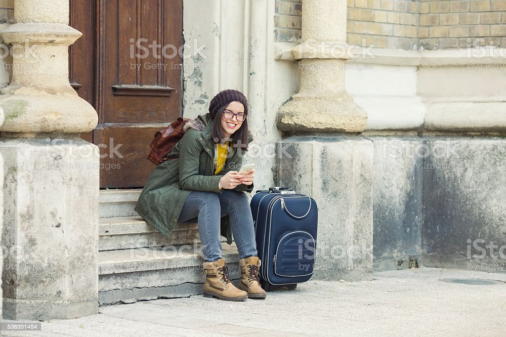 Young Girl Traveling stock photo