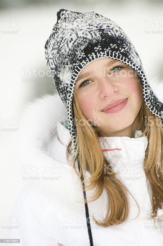 Young girl winter portrait royalty-free stock photo