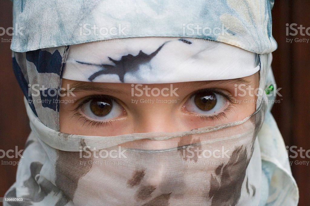 young girl with a veil stock photo