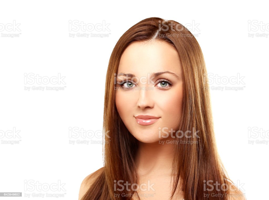 Young girl with beautiful hair stock photo