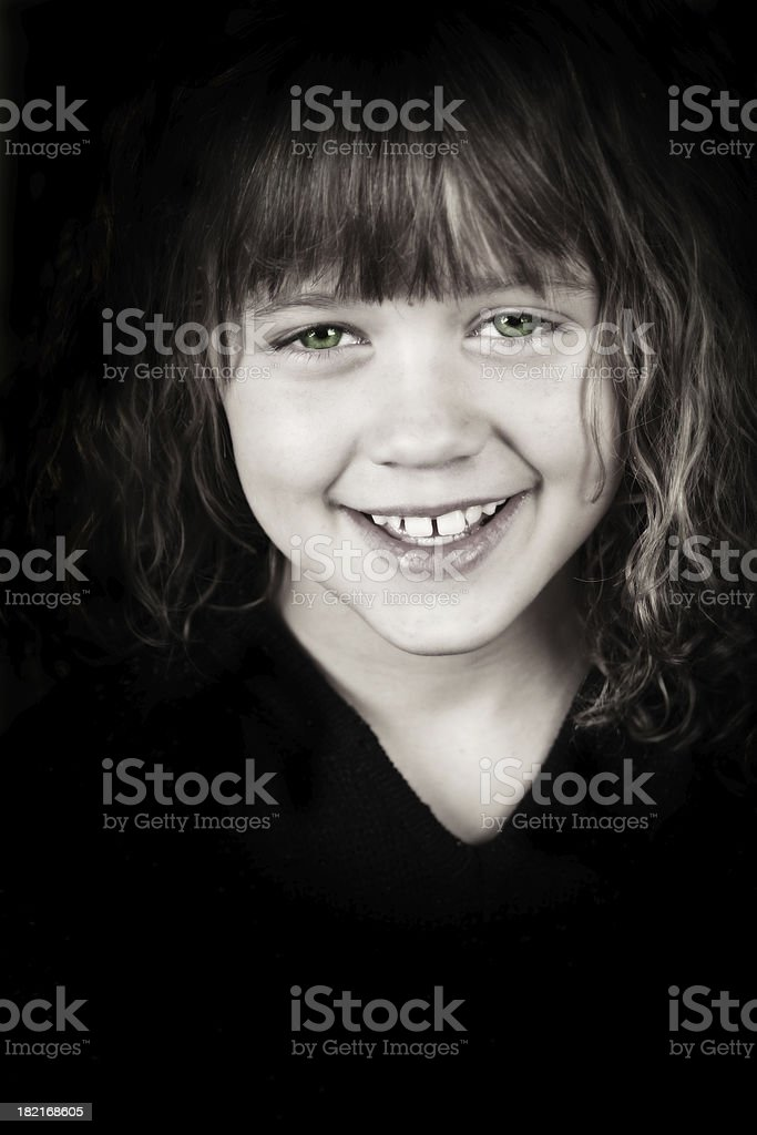 Young Girl with Green Eyes royalty-free stock photo