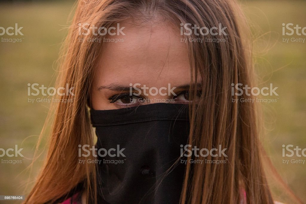 Young girl with scarf royalty-free stock photo