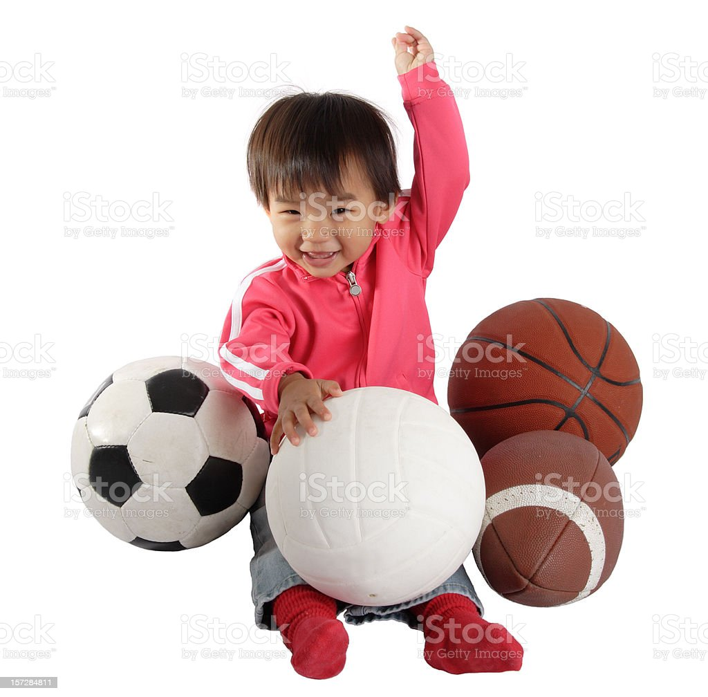 Young Girl With Sports Equipment royalty-free stock photo