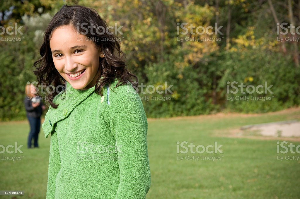 Young girl portait stock photo