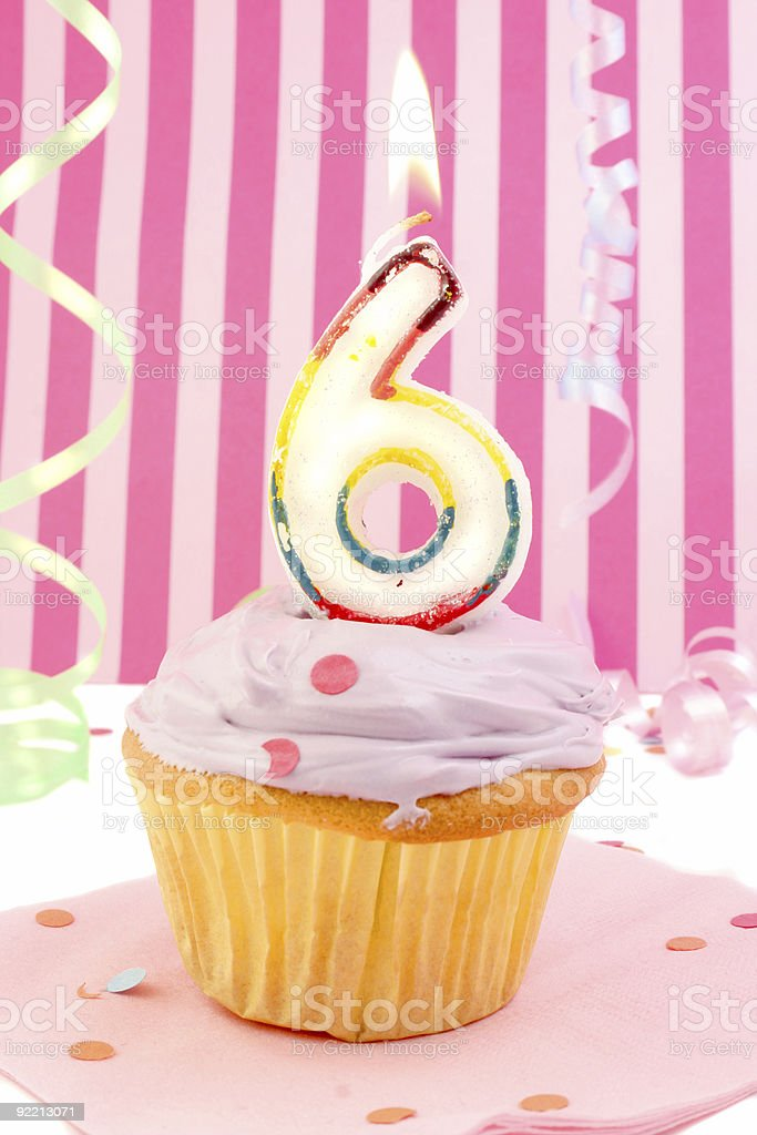 young girl's birthday stock photo
