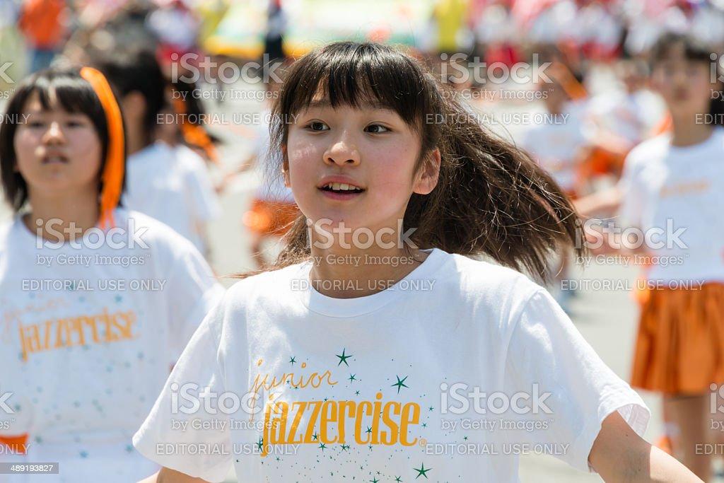 Young girls dancing stock photo