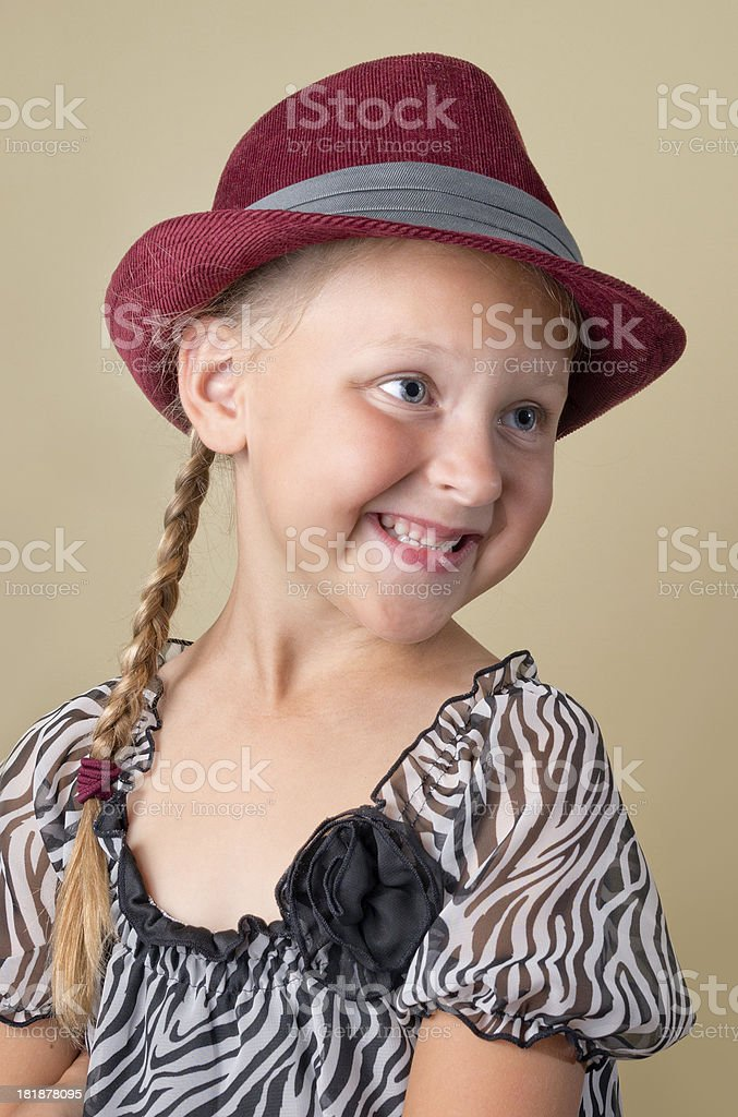 Young Girls Fedora royalty-free stock photo
