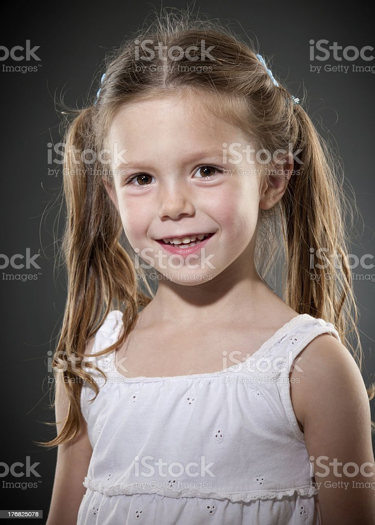 Young Girls Hollywood Style Head Shot stock photo