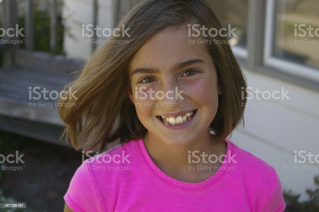Young Girls Teeth stock photo