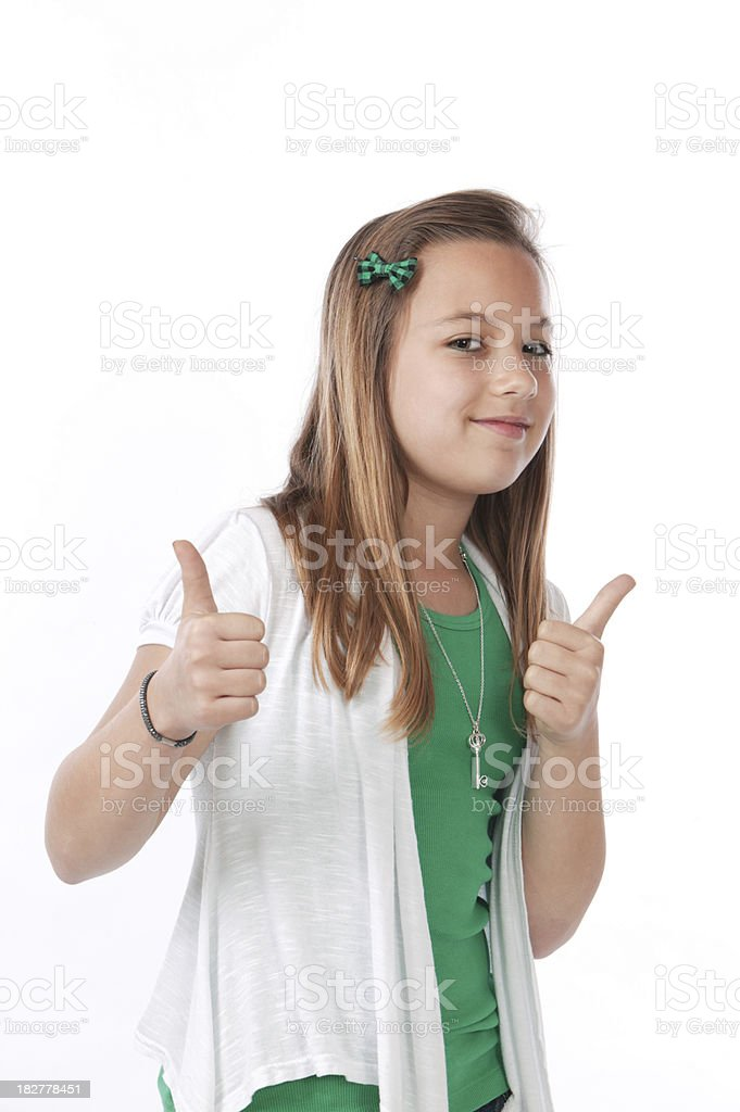 young girls thumbs up royalty-free stock photo