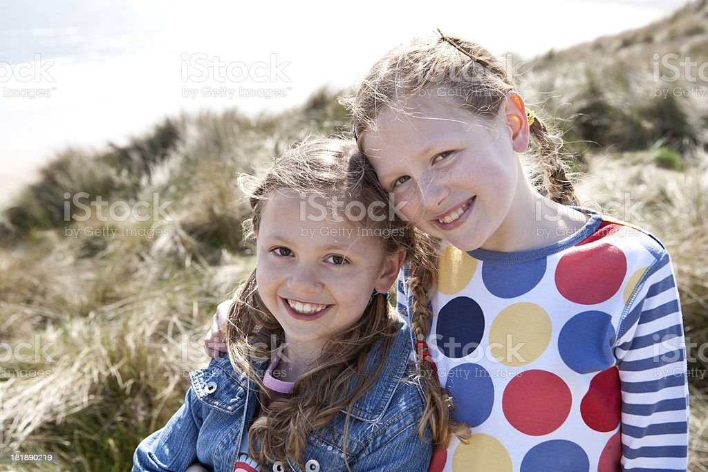 Young girls together royalty-free stock photo
