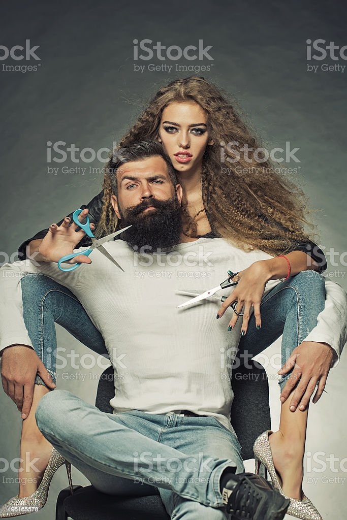 Young glamour couple stock photo