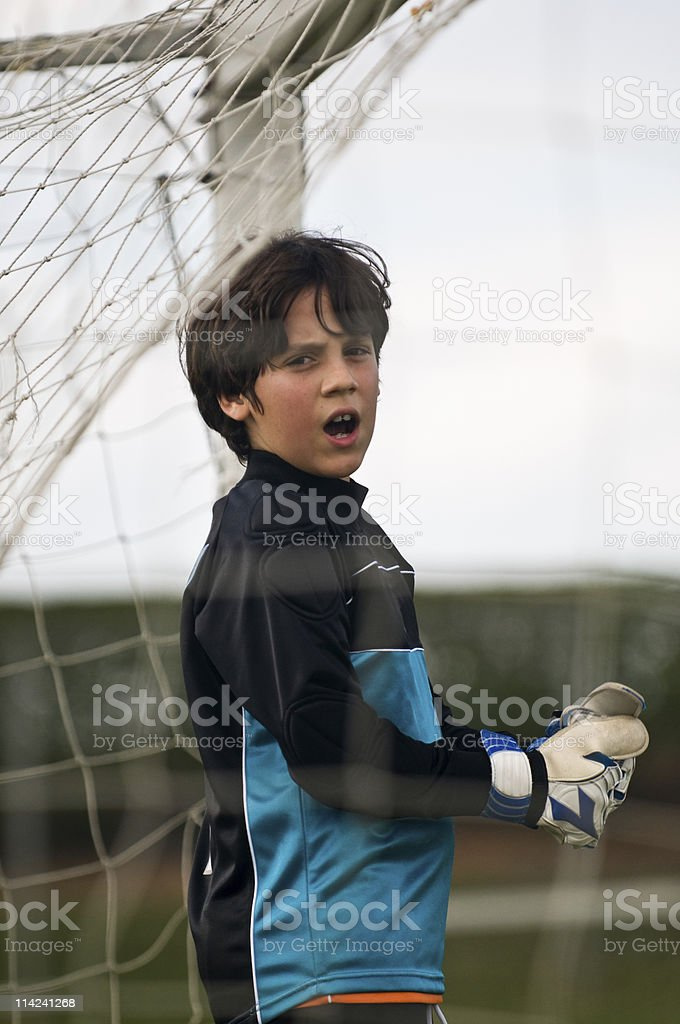 Young Goal Keeper royalty-free stock photo