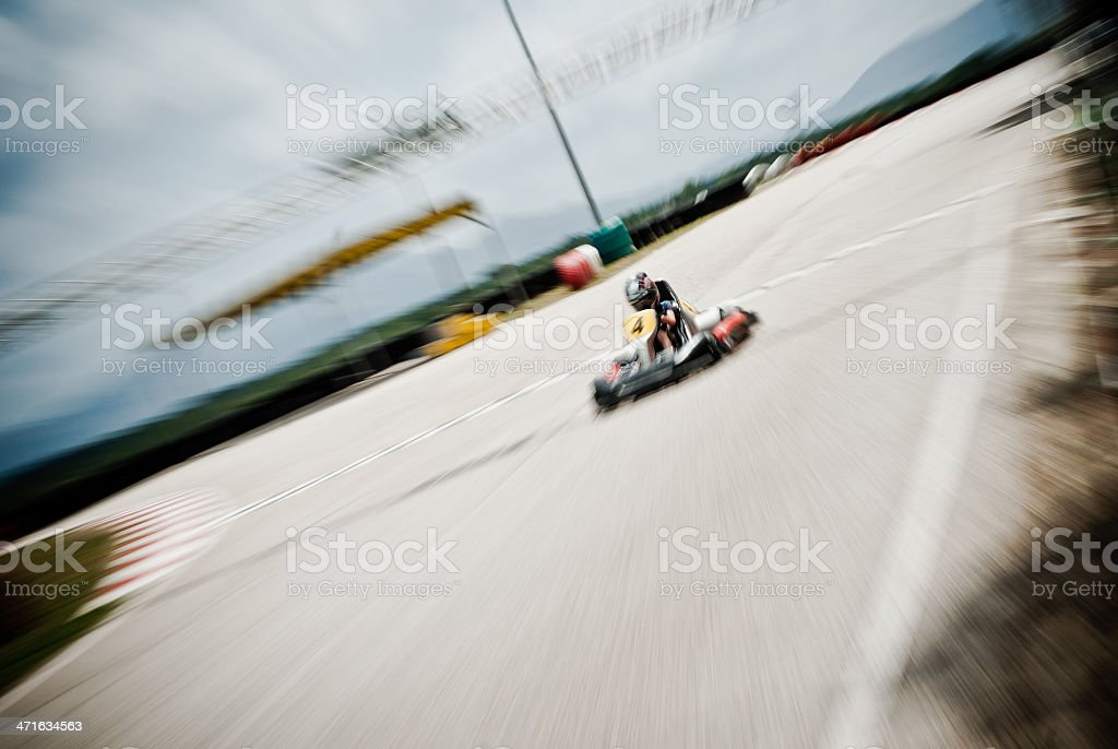 Young Go-Karting stock photo