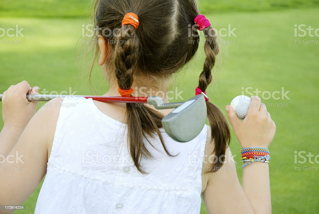 Young golf player royalty-free stock photo