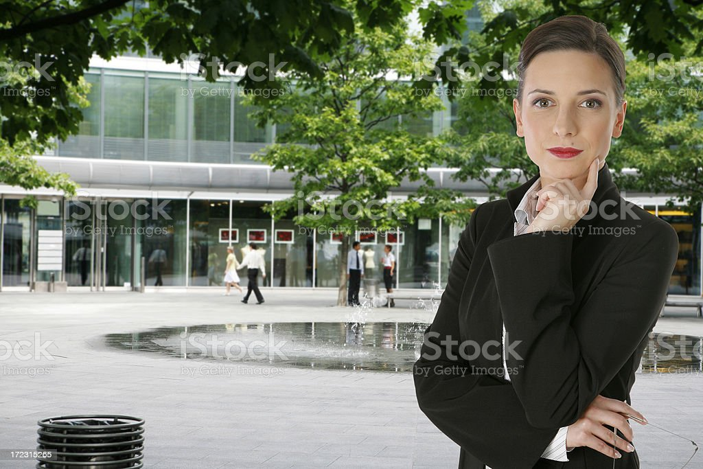 young good looking businesswoman royalty-free stock photo