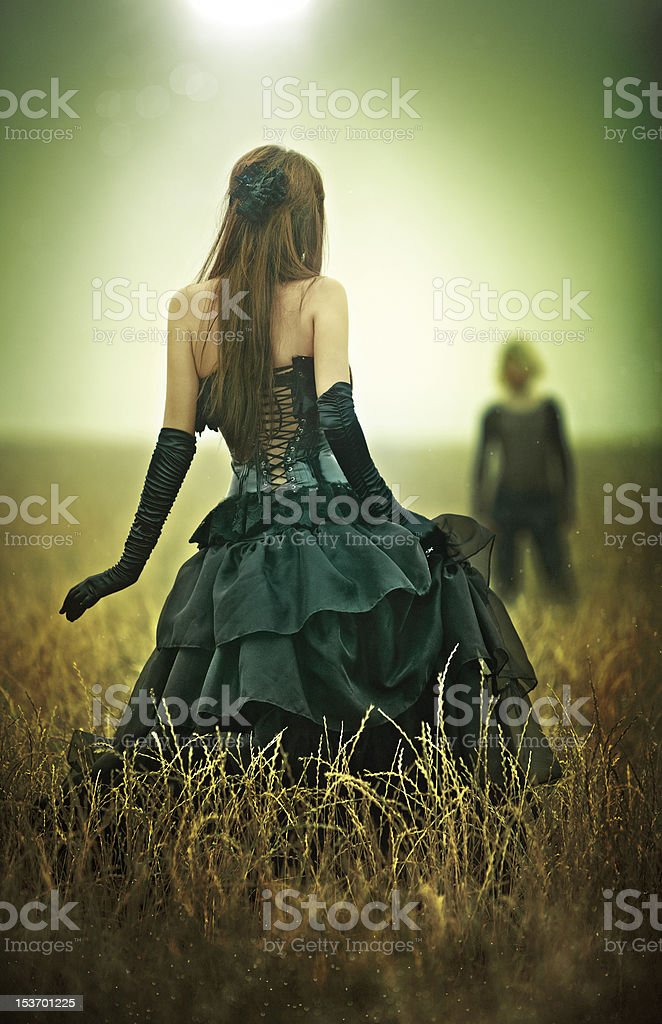 Young goth couple concept royalty-free stock photo