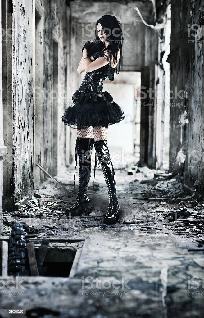 Young goth woman royalty-free stock photo