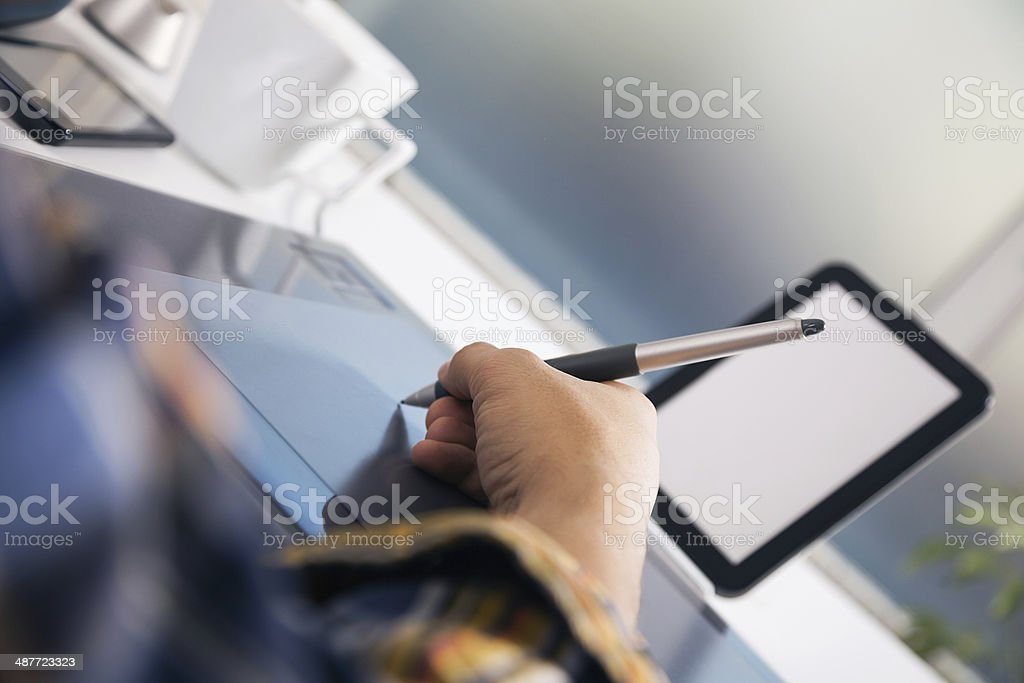 Young graphic designer stock photo