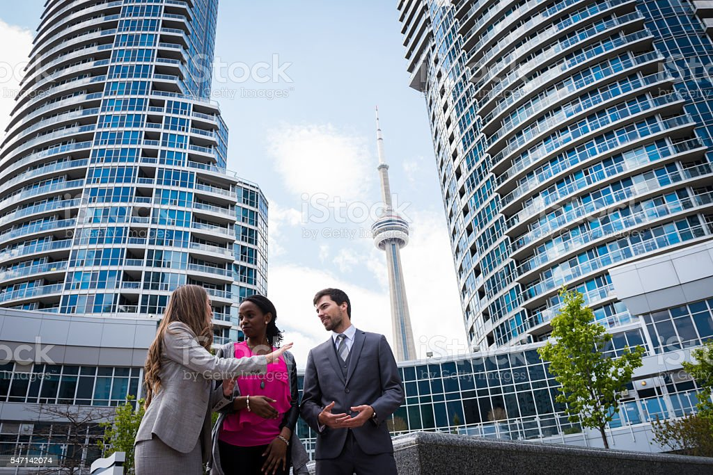 Young group of business professionals stock photo