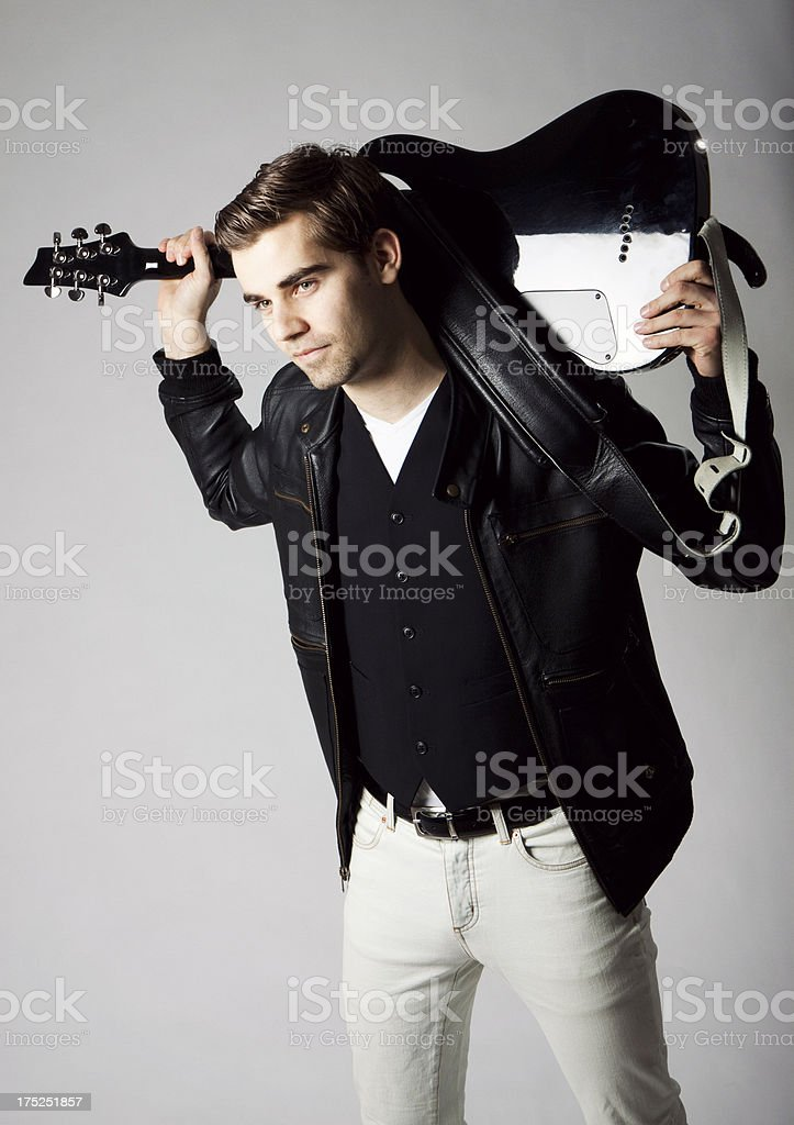 Young Guitarist stock photo