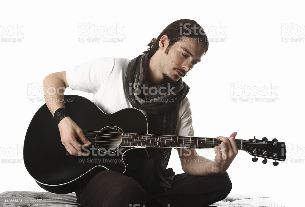 young guitarist royalty-free stock photo