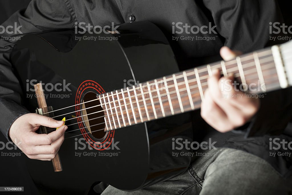 Young guitarist player royalty-free stock photo